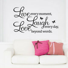 """""""Live Laugh Love """"Quote Word Wall Decal Sticker Vinyl Removable Room Art Decor"""