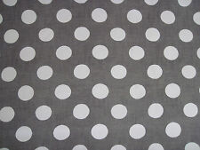 """TESSA PROUDFOOT FOR ST LEGER & VINEY CURTAIN FABRIC """"Giant Dot"""" 5.8 METRES GREY"""