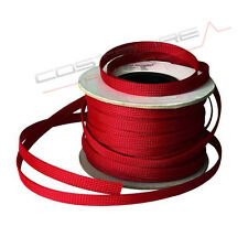 Guaina Espandibile ROSSA - Ø 8.90mm → 25.5mm - CAVO Hi END cable sleeve treccia