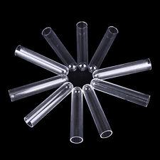 10Pcs 12*60mm Clear Plastic Test Tubes Hard Plastic Test Trial Tube HI