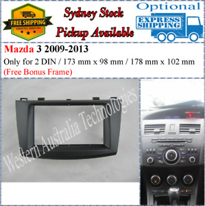Fascia facia Fits Mazda 3 2009-2013 Double Two 2 DIN Dash Kit