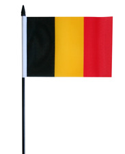 "Belgium Small Hand Waving Flag 6"" x 4"""