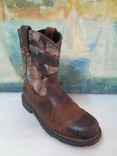 Ariat Womens 4LR Cowboy Boot Sz 5 Brown/Camo
