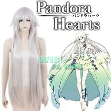 Pandora Hearts Alice Intention of the Abyss Short Silver Grey Anime Cosplay Wig
