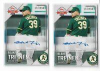 2019 Topps National Baseball Card Day Auto Lot 2 Sequential Blake Treinen /450