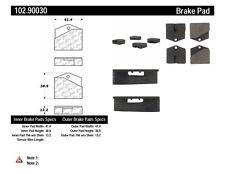 Parking Brake Pad Set-C-TEK Metallic Preferred Rear Centric 102.90030