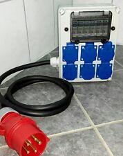 Stromverteiler,Adapter 16A auf 6x Schuko mit 6xB16A Sicherungen