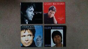 "Cliff Richard - 4 x 7"" Singles - Misunderstood Man, Saviour's Day + 2 others"