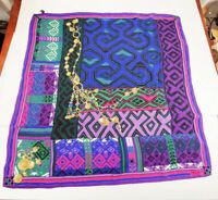 """Louis Feraus Silk Scarf Handkerchief Bandana chain 33"""" x 33"""""""