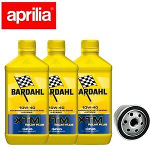 Kit tagliando Bardahl XTM Synt 10W40 filtro olio originale Aprilia Shiver 750