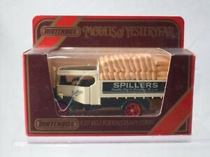 MATCHBOX - MODELS OF YESTERYEAR - Y27 1922 FODEN STEAM LORRY SPILLERS - MINT