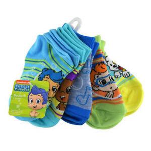 5 Pair Bubble Guppies Striped Shorty Toddler Boys Socks Fit 5-6.5 Shoe Sz 4-7.5