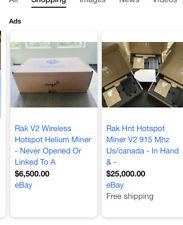 rak v2 wireless hotspot helium miner. In hand ships immediately. 915mhz