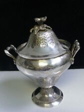 """Beautiful Vintage Egyptian Silver Spice Box 283.6 grams , 6"""" tall"""