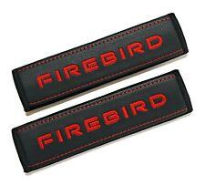 Pontiac Firebird Soft Seat Belt Shoulder Pads Covers Red embroidery 2pcs