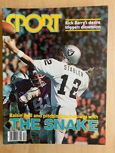 Sport Magazine December 1977 Ken Stabler Raiders The Snake Mint Condition