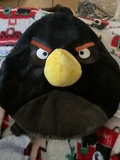 Angry Bird Bomb Black Plush Kids Backpack