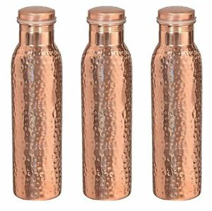 Mothers Day Copper 1000 ML Hammered Water Bottle Set of 4 Indian Good For Health