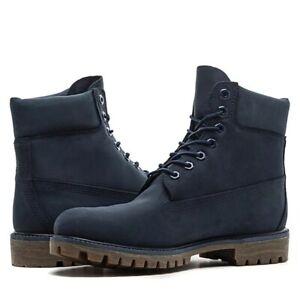 Timberland 6 Inch Premium Waterproof Boots Navy Blue Suede - New Men's Size 10.5