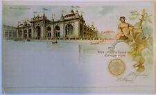 Antique 1893 World`s Columbian Exposition Mines Building Postcard