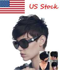 Short Curly Black Brown Woman Hair Wig Pixie Cut Synthetic Hair Wigs for Woman