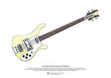 Chris Squire's Rickenbacker RM1999 Bass ART POSTER A3 size
