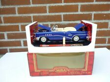 1/18 MIRA BUICK CENTURY 1955 CABRIOLET IN NICE PURPLE BLUE DIECAST MODEL NM BOX