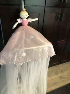 Pottery Barn Kids Tulle Pink Tutu Canopy Bed Ballerina One Size Rare