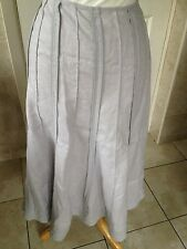 "Per Una M&S Ladies Grey Linen Skirt Size 12 Length 32"". New With Tags."