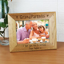 Personalised Grandparents 5x7 Wooden Photo Frame - Ideal Birthday Christmas Gift