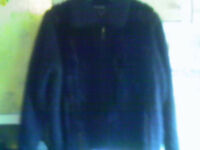 VENESHA High Quality Angora Brown Mink Fur Trim Jacket/Sweater LARGE, NWOT