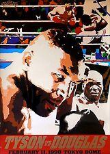 Original Vintage Iron Mike Tyson vs. Buster Douglas Boxing Fight Poster