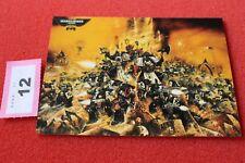 Juegos taller Warhammer 40k 30th aniversario obras de arte Tarjeta Arte Nuevo Postal B2