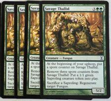 Mtg: 4x Savage thallid! time Spiral! Engl. nm Magic the Gathering mapa TCG