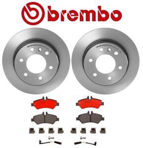 Brembo Rear Brake Kit Disc Rotors Ceramic Pads Sensors For Mercedes NCV3 Dodge