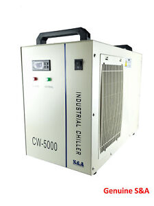 S&A Genuine CW-5000 AG 220V Water Chiller Cool 80W 100W 130W 150W CO2 Laser Tube
