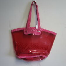 DOLCE & GABBANA D&G PINK PLASTIC LOGO BEACH TOTE  BAG W/ COTTON LOGO POUCH CUTE!