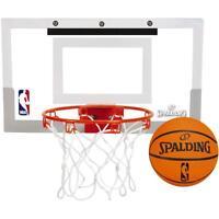 SPALDING SLAM JAM OVER-THE-DOOR MINI BASKETBALL HOOP