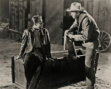 RARE STILL AUDIE MURPHY WESTERN OFF CAMERA WITH JAMES STEWART