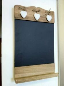 Shabby Chic Blackboard Small Vintage Kitchen Wall Chalk Board Rustic Wood Notice