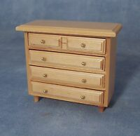 1/12th SCALE DOLLS HOUSE CHEST OF DRAWERS IN PINE