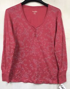 NEW Blue Damsel By Cabelas Womans Size L Rose  Light Weight Long Sleeve Top