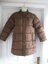 Kids AGED 9 - 10 GIRLS  PADDED LONG BROWN WINTER COAT