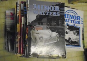 """MORRIS MINOR OWNERS CLUB MAGAZINES - """"MINOR MATTERS""""   APPROX 250 AVAILABLE"""