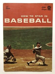 How to Star in Baseball Scholastic Book 1960 Mickey Mantle New York Yankees