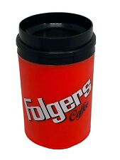 Rare Folger's Insulated Travel Mug Cup Aladdin 8 Oz Cold Hot Advertising Coffee