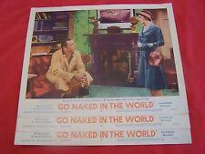 """""""GO NAKED IN THE WORLD-1961-LOBBY CARDS#3,4&7 DRAMA-GINA LOLABRIGIDA-FRANCIOSA"""