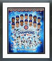 "Chicago Cubs 2016 World Series Champions Photo (Size: 12.5"" x 15.5"") Framed"