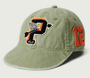 Polo RALPH LAUREN Football Hat Cap Cadet Military Patch Pwing Stadium Varsity