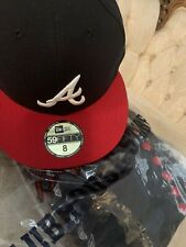 Atlanta Braves New Era 2019 Postseason Home Side Patch 59FIFTY Fitted Hat -size8